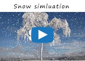 After Effects snow simulation