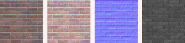 Textures for visualisations - red brick
