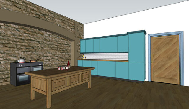 SketchUp example - luxury apartment