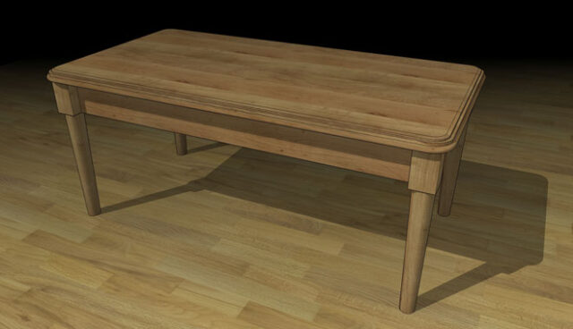 SketchUp example - table