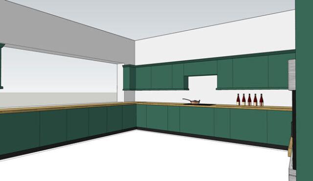 SketchUp example - kitchen