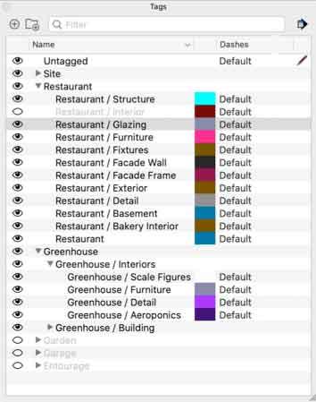 SketchUp 2021 Tag Folders