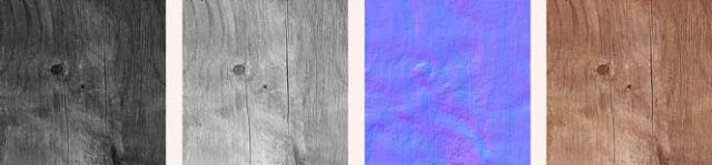 Textures for visualisations - rough wood
