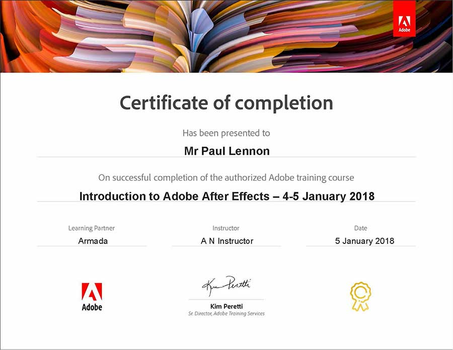 After Effects Course For Beginners At Adobe Authorised Training Centres