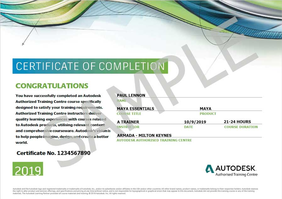 Maya course for beginners at Autodesk Authorised Training Centre