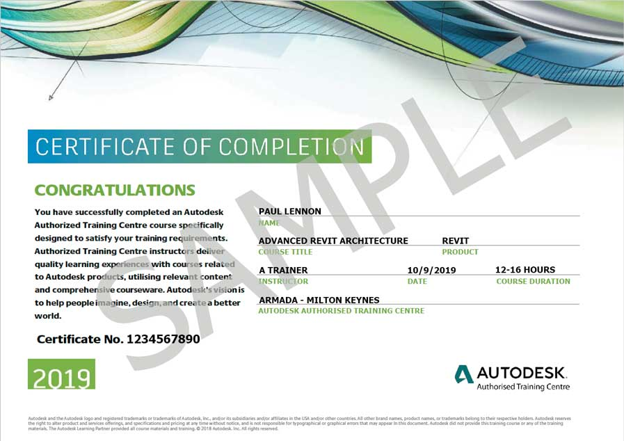Advanced Revit training for architects at Autodesk-authorised centres