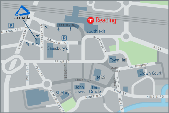 Directions to Reading Spaces training centre